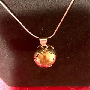 Jewelry - Vintage Sterling Globe Chime Ball Necklace